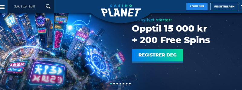 Casino Planet lobby