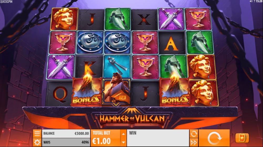 Hammer of Vulcan spilleautomat